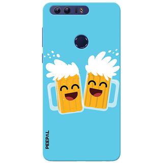 PEEPAL Honor 8 Designer & Printed Case Cover 3D Printing Bear Buddy Design
