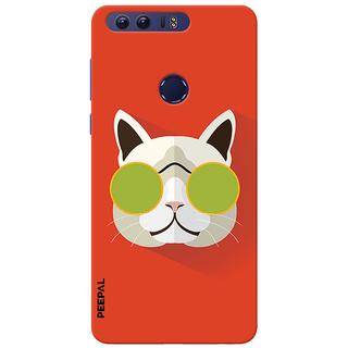 PEEPAL Honor 8 Designer & Printed Case Cover 3D Printing Stylish Cat Design
