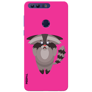 PEEPAL Honor 8 Designer & Printed Case Cover 3D Printing Scary Cat Design