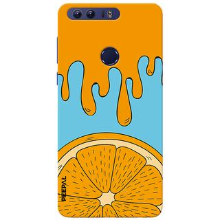 PEEPAL Honor 8 Designer & Printed Case Cover 3D Printing Orange Design
