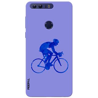 PEEPAL Honor 8 Designer & Printed Case Cover 3D Printing Rider Design