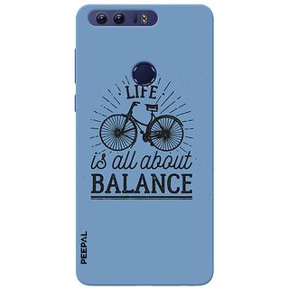 PEEPAL Honor 8 Designer & Printed Case Cover 3D Printing Balance Design
