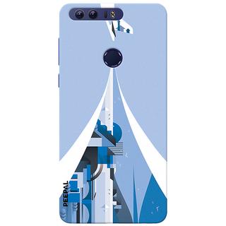 PEEPAL Honor 8 Designer & Printed Case Cover 3D Printing Art Multi Colour Design