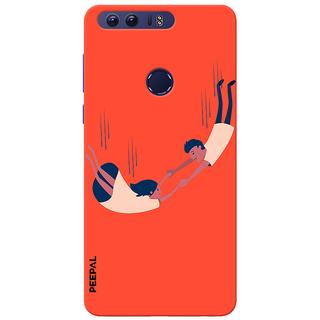 PEEPAL Honor 8 Designer & Printed Case Cover 3D Printing Love In The Air Design