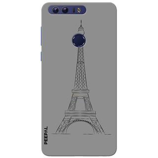 PEEPAL Honor 8 Designer & Printed Case Cover 3D Printing Eifle Tower Design