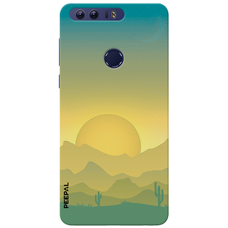 PEEPAL Honor 8 Designer & Printed Case Cover 3D Printing Sun Rise Design
