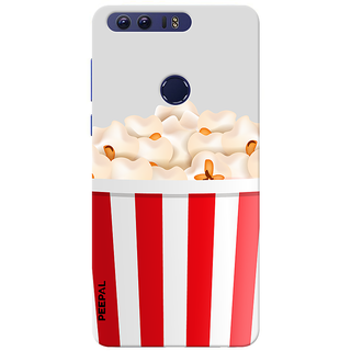 PEEPAL Honor 8 Designer & Printed Case Cover 3D Printing Popcorn Design