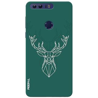 PEEPAL Honor 8 Designer & Printed Case Cover 3D Printing Designer Deer Design