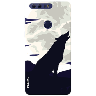 PEEPAL Honor 8 Designer & Printed Case Cover 3D Printing Lonely Wolf Design