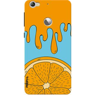 PEEPAL LeTv Le1s Designer & Printed Case Cover 3D Printing Orange Design