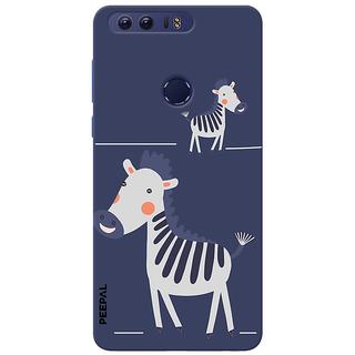 PEEPAL Honor 8 Designer & Printed Case Cover 3D Printing Happy Giraffe Design