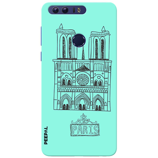 PEEPAL Honor 8 Designer & Printed Case Cover 3D Printing Paris Design