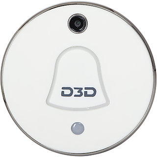 D3D Smart WiFi Video Doorbell With Indoor Wireless Chime Cloud Storage Plug and Play Model D7012WZ