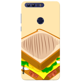 PEEPAL Honor 8 Designer & Printed Case Cover 3D Printing Sandwitch Design