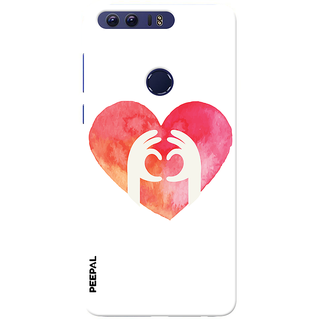 PEEPAL Honor 8 Designer & Printed Case Cover 3D Printing Love Design