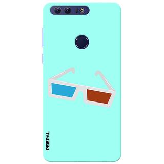 PEEPAL Honor 8 Designer & Printed Case Cover 3D Printing 3D Glasses Design