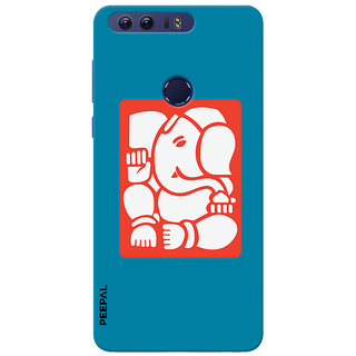 PEEPAL Honor 8 Designer & Printed Case Cover 3D Printing Ganesha Design