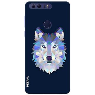 PEEPAL Honor 8 Designer & Printed Case Cover 3D Printing Artist Wolf Design