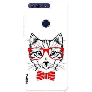 PEEPAL Honor 8 Designer & Printed Case Cover 3D Printing Gentelman Cat Design