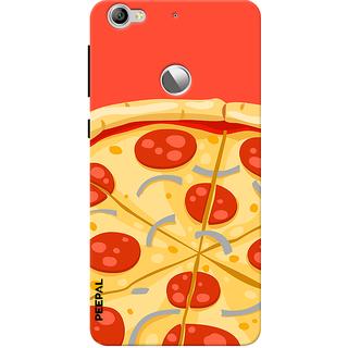 PEEPAL LeTv Le1s Designer & Printed Case Cover 3D Printing Pizza Design
