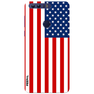 PEEPAL Honor 8 Designer & Printed Case Cover 3D Printing America Design