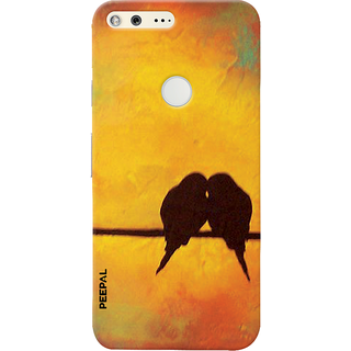 PEEPAL Google Pixel Designer & Printed Case Cover 3D Printing Love Birds Design