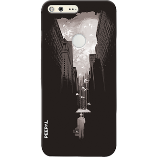 PEEPAL Google Pixel Designer & Printed Case Cover 3D Printing Walking Alone Design