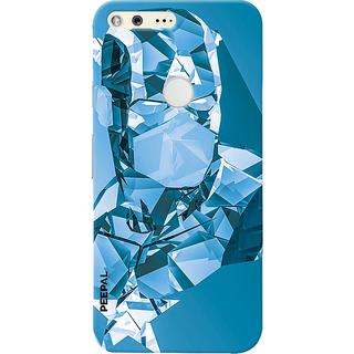 PEEPAL Google Pixel Designer & Printed Case Cover 3D Printing Crystle Man Design
