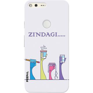 PEEPAL Google Pixel Designer & Printed Case Cover 3D Printing Zindagii Design