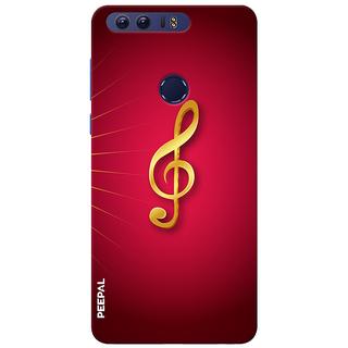 PEEPAL Honor 8 Designer & Printed Case Cover 3D Printing Music Sign Design