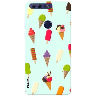PEEPAL Honor 8 Designer & Printed Case Cover 3D Printing Ice Cream Love Design