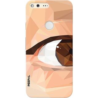 PEEPAL Google Pixel Designer & Printed Case Cover 3D Printing Eye Multi Colour Design