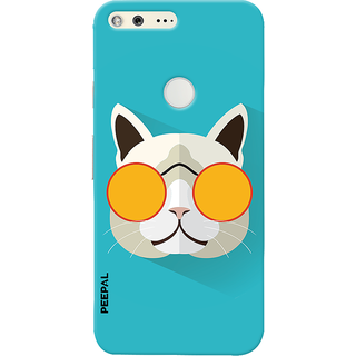 PEEPAL Google Pixel Designer & Printed Case Cover 3D Printing Stylish Cat Design