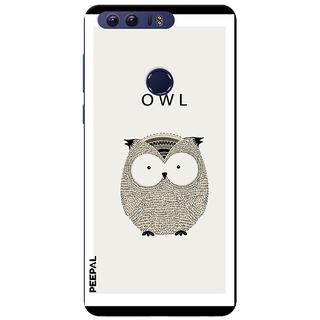 PEEPAL Honor 8 Designer & Printed Case Cover 3D Printing OWL Design