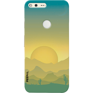 PEEPAL Google Pixel Designer & Printed Case Cover 3D Printing Sun Rise Design