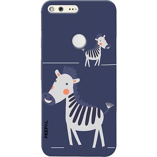 PEEPAL Google Pixel Designer & Printed Case Cover 3D Printing Happy Giraffe Design