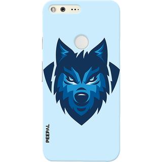 PEEPAL Google Pixel Designer & Printed Case Cover 3D Printing Angry Wolf Design