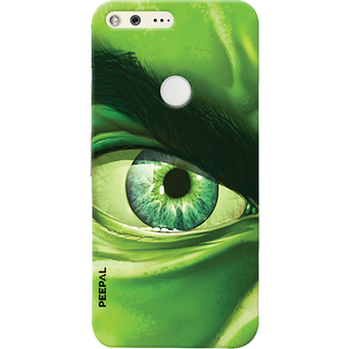 PEEPAL Google Pixel Designer & Printed Case Cover 3D Printing Eye Hullk Design