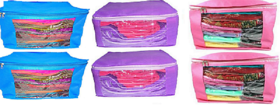 DIMONSIV Plain 10 Inch Ladies Large Non - Woven 6saree Cover. Upto 10 - 15 Saree Cover each  (Pink)