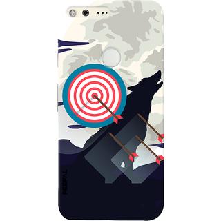 PEEPAL Google Pixel Designer & Printed Case Cover 3D Printing Bulls Eye Design