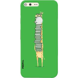 PEEPAL Google Pixel Designer & Printed Case Cover 3D Printing Studying Giraffe Design