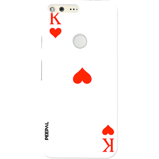 PEEPAL Google Pixel Designer & Printed Case Cover 3D Printing Card Of King Design