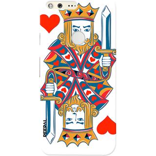 PEEPAL Google Pixel Designer & Printed Case Cover 3D Printing Card Of King Design