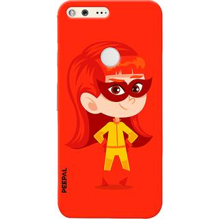 PEEPAL Google Pixel Designer & Printed Case Cover 3D Printing Junior Super Girl Design