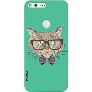 PEEPAL Google Pixel Designer & Printed Case Cover 3D Printing Gentelman Cat Design