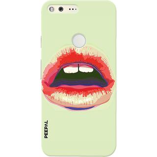 PEEPAL Google Pixel Designer & Printed Case Cover 3D Printing Lusty Lips Design