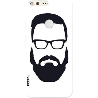 PEEPAL Google Pixel Designer & Printed Case Cover 3D Printing Beard Design