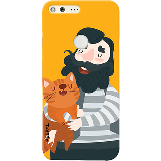 PEEPAL Google Pixel Designer & Printed Case Cover 3D Printing Cat Love Design