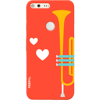 PEEPAL Google Pixel Designer & Printed Case Cover 3D Printing Music Is Love Design