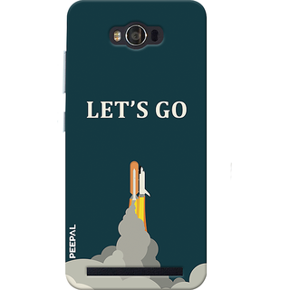 PEEPAL Asus Zenfone Max Designer & Printed Case Cover 3D Printing Let'S Go Design